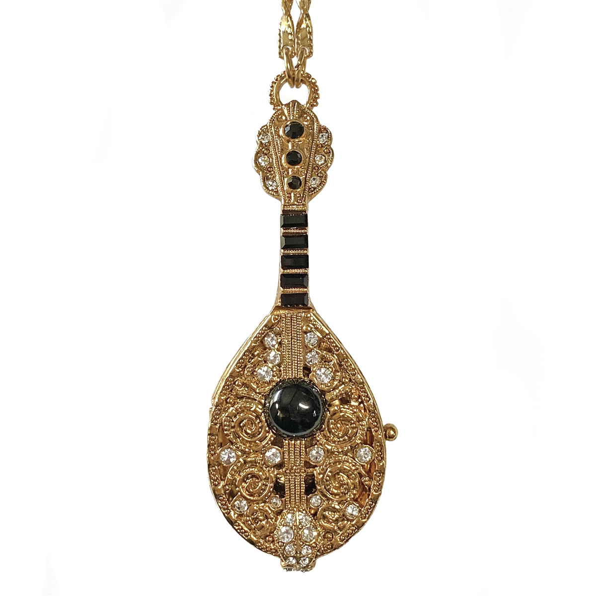 Couture Custom Made Vintage Gold Leaf snd Rhinestone Necklace