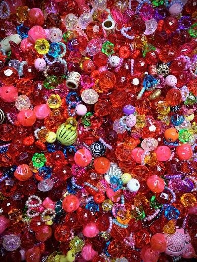 Surprise Party Bead Mix,Colorful, Acrylic, BD02250, mixed colors, bead mix, mixed beads, red, bell flowers, red beads, plastic, plastic beads, candy beads, mixed shapes beads, bead party, beading, designer beads, designer bead mix, B'sue Boutiques