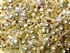 BD02264, Sunshine Pearls, Bead Mix, Vintage, Japanese pearls, vintage Japanese pearls, MOD cultura, vintage acrylic, costume pearls, faux pearls, cream pearls, white pearls, crystal ab beads, acrylic vintage beads, jonquil ab, B'sue Boutiques