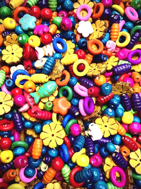BD02267, Good Day Sunshine Bead Mix, Hippie Chic, boho, boho beading, hippie jewelry, wood beads, dyed stone, dyed howlite beads, flower beads, 60s style, beading, hippie necklace, boho beads, beads with bright colors, B'sue Boutiques, limited edition
