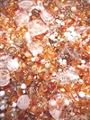BD02296, Tangerine Dream, Designer Bead Mix, apricot ab, tangerine, golden, sunshine, beads, acrylic bead mix, chalk ab, acrylic beads, 4-12mm beads, B'sue Boutiques, creamsicle, designer beads, jewelry designer, limited edition mix, one of a kind beads