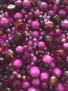 BD02298, Purple Passion, Designer Bead Mix, purple, purple amethyst, amethyst ab, designer acrylics, garnet and deepest amber beads, lucite beads,  4-18mm, plastic beads, vintage beads, mixed colors, mixed sizes, shades of purple, B'sue Boutiques