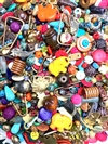 BD02302, Bead Project Muse, Floorsweepings, semi precious, wood beads, engraved beads, stone beads, elephants, mermaids,shells, buffalo horn, seashells, glass beads,brass charms,castings, pewter charms,B'sue by 1928, brass blanks, findings,B'sue Boutiques