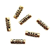 BD2463, designer tube bead, gold finish, making beaded jewelry, tube beads, 18mm, 4mm hole, B'sue Boutiques, antique gold, cast zinc, hard to find bead, pierced beads, Oriental look beads, style, fashion, all about the beads, one of a kind style