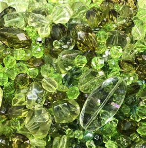 vintage beads, margarita mix beads, assorted, margarita, lime, peridot, vintage plastic beads, vintage, old plastic beads, beads mix, mixed beads, mixed plastic beads, acrylic beads, colored beads, margarita, old beads, B'sue Boutiques, assorted beads