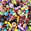 bead mix, bright colors, assorted sizes, BDCANDY, acrylic, bright, mixed beads, bead designer, B'sue Boutiques bead mixes, bigger holes, 2mm holes, beads for knotting, knotting, acrylic bead mix,