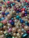 pastel pearls, vintage pearls, vintage Japanese pearls, pastel colors mix, bead mix, vintage mix, Japanese, cultura, acrylic, pink beads, pink pearls, blue beads, blue pearls, cream pearls, mixed colors pearls, bsue bead mix