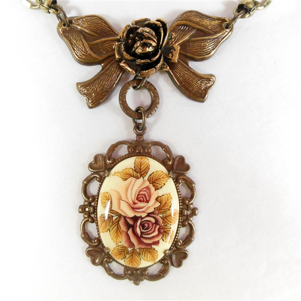 Antique cameo assemblage necklace
