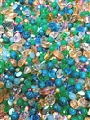 BD02413, summertime bead mix, green, aqua, vintage, vintage beads, mixed colors, acrylic bead mix, B'sue Boutiques, tangerine ab, lucite beads, beautiful beads, plastic beads, B'sue Boutiques, 6mm beads, 12mm beads, shades of green bead mix, OOAK