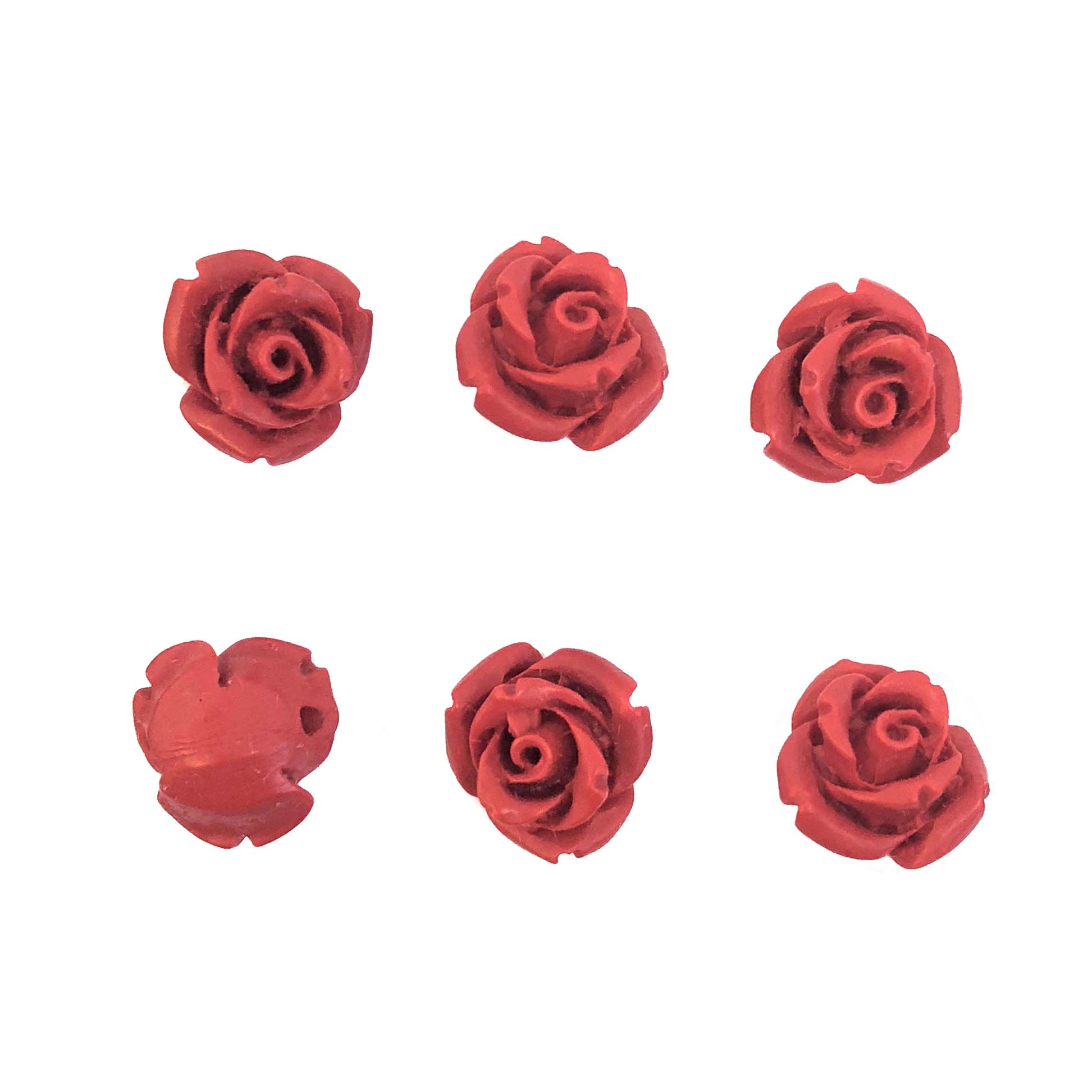 rose beads, carved cinnabar, 08372, red, red rose beads, 10mm rose beads, 10mm, cinnabar, B'sue Boutiques, jewelry supplies, beads, red beads, roses,