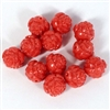 rose beads, cherry red, vintage plastic, vintage plastic rose beads, old beads, old rose beads, old plastic beads, red, red rose beads, 10mm rose beads, 10mm, vintage beads, B'sue Boutiques, rare vintage beads, plastic jewelry parts