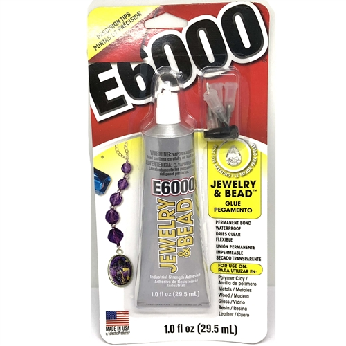 E-6000tip, Jewelry Glue, Four (4) tip kit, Jewelry Supplies, jewelry making supplies, adhesive, multi purpose glues, clear glue, crafters glue, bonding glue, crafting supplies, craft supplies, scrapbooking supplies, bonding glue