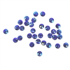 3mm preciosa Sapphire AB flatback rhinestones, blue, rhinestone, stone, preciosa, Czech, flatback, 3mm, 32 pieces, silver folded back, sparkle, jewelry making, jewelry findings, B'sue Boutiques, jewelry supplies, sapphire rhinestones, 02032