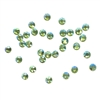 3mm preciosa peridot AB flatback rhinestones, green, rhinestone, stone, preciosa, Czech, flatback, 3mm, 32 pieces, silver folded back, sparkle, jewelry making, jewelry findings, B'sue Boutiques, jewelry supplies, green rhinestones, 02038