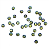 3mm preciosa Olivine AB flatback rhinestones, olive green, rhinestone, stone, preciosa, Czech, flatback, 3mm, 32 pieces, silver folded back, sparkle,  jewelry findings, B'sue Boutiques, jewelry supplies, olive AB rhinestones, 02040