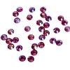 3mm preciosa fuchsia pink AB flatback rhinestones, pink, rhinestone, stone, preciosa, Czech, flatback, 3mm, 32 pieces, silver folded back, sparkle,  jewelry findings, B'sue Boutiques, jewelry supplies, pink AB rhinestones, 02049