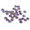 3mm preciosa Violet AB flatback rhinestones, purple, rhinestone, stone, preciosa, Czech, flatback, 3mm, 32 pieces, silver folded back, sparkle,  jewelry findings, B'sue Boutiques, jewelry supplies, violet rhinestones, 02057