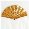 brass stampings, Miriam Haskell, Russian gold plate,07764, B'sue Boutiques, nickel free jewelry, US made jewelry, vintage jewellery supplies, jewelry making supplies, beading supplies,gold plate, antique gold, fan stampings,oriental fan
