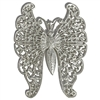 filigree butterfly, vintage, pewter, 68 x 53