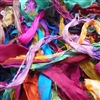Sari Ribbon, Silk,  Made in India, Perfect Size for Jewelry Makers, Brilliant Colored Fiber