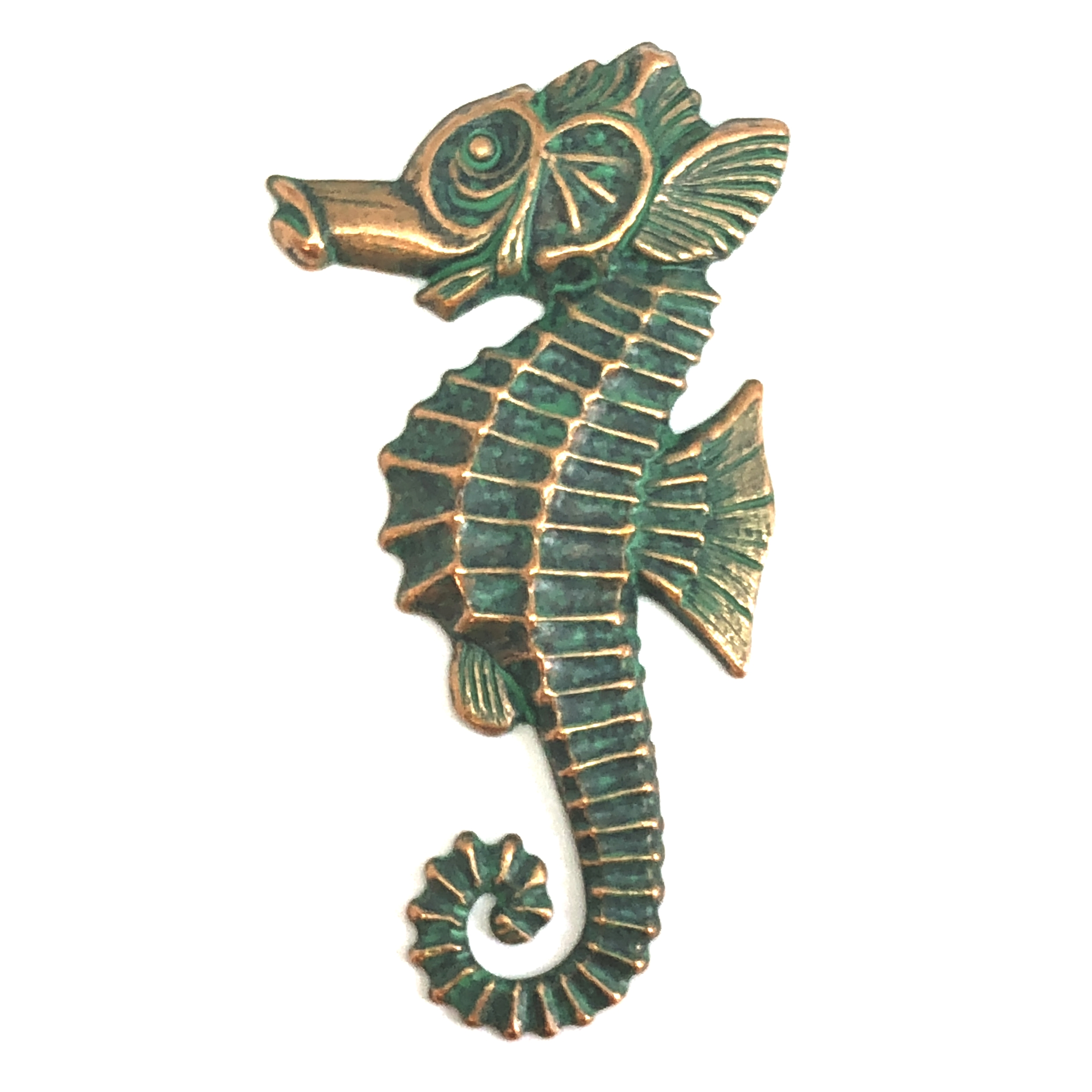 brass seahorse, beach jewelry,  jewelry making, 08177, B'sue Boutiques, nickel free, US Made, jewelry supplies, jewelry making, vintage jewelry supplies, brass jewelry parts, mold making jewelry, aqua copper patina, antique copper