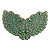 brass stampings, brass wings, aqua copper patina, 08191, vintage jewelry supplies, nickel free jewelry supplies, B'sue Boutiques, brass jewelry findings, distressed finish, patina, green patina