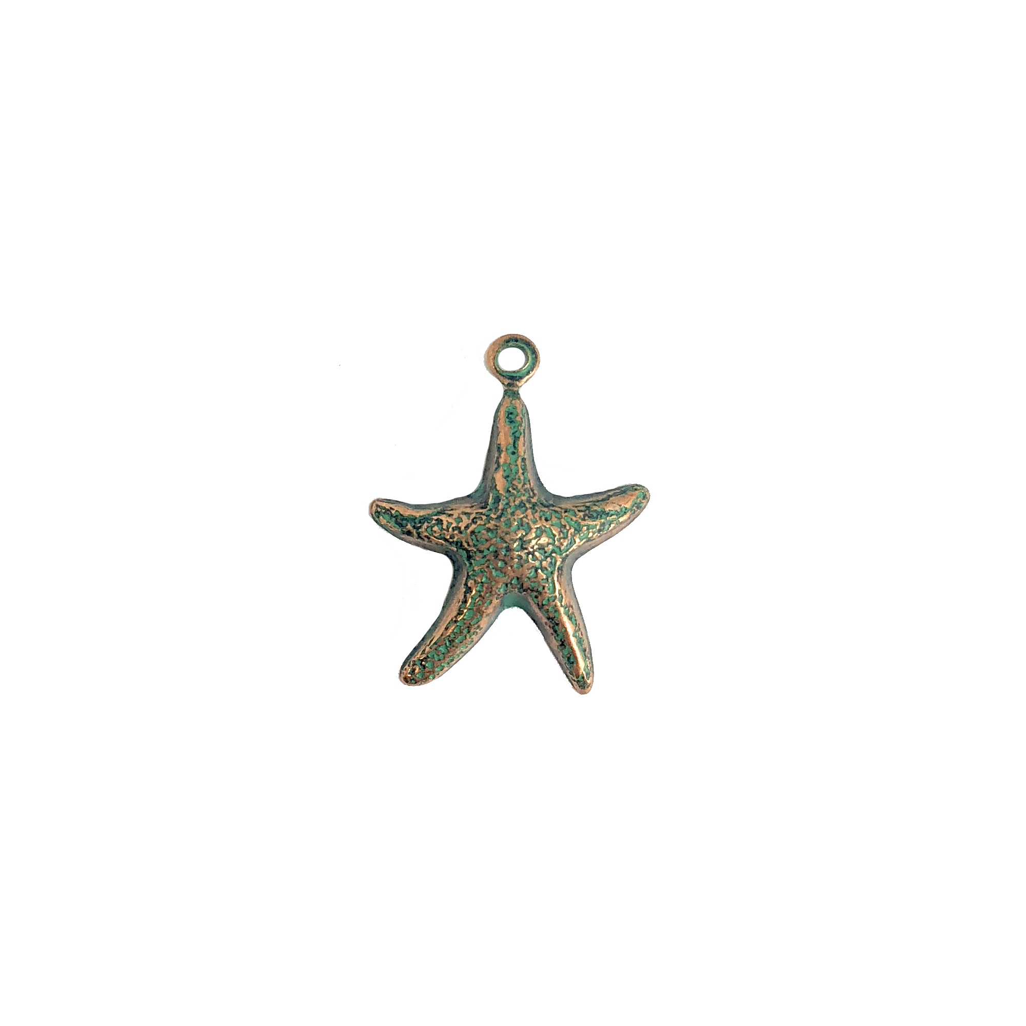 brass starfish, beach jewelry, aqua copper patina, 15x14mm, 08220, ocean, beach, seaside, sea, starfish, star fish, fish, jewelry supplies, Bsue Boutiques