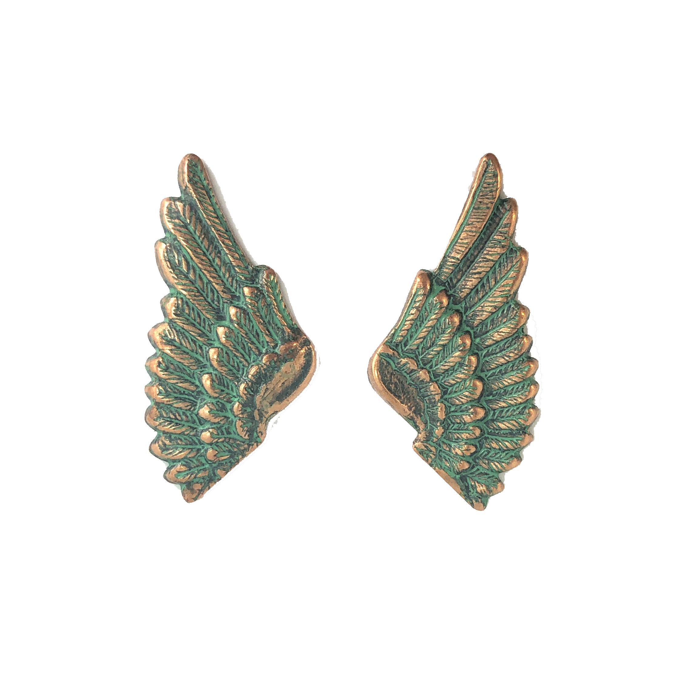 brass wings, bird wings, aqua copper patina, 08224, Steampunk Art, vintage jewelry supplies, jewelry making supplies, brass jewelry parts, US made, nickel free, Bsue Boutiques, wings, small wings, aqua, copper
