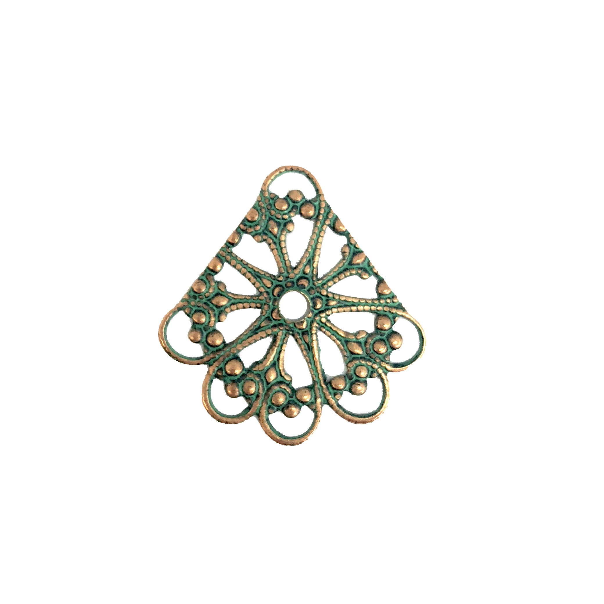 filigree drop, aqua copper patina, 08227, gypsy drop, beading filigree, brass jewelry parts, vintage jewelry supplies, jewelry making supplies, bsueboutiques, aqua, beading supplies, ear drop, copper