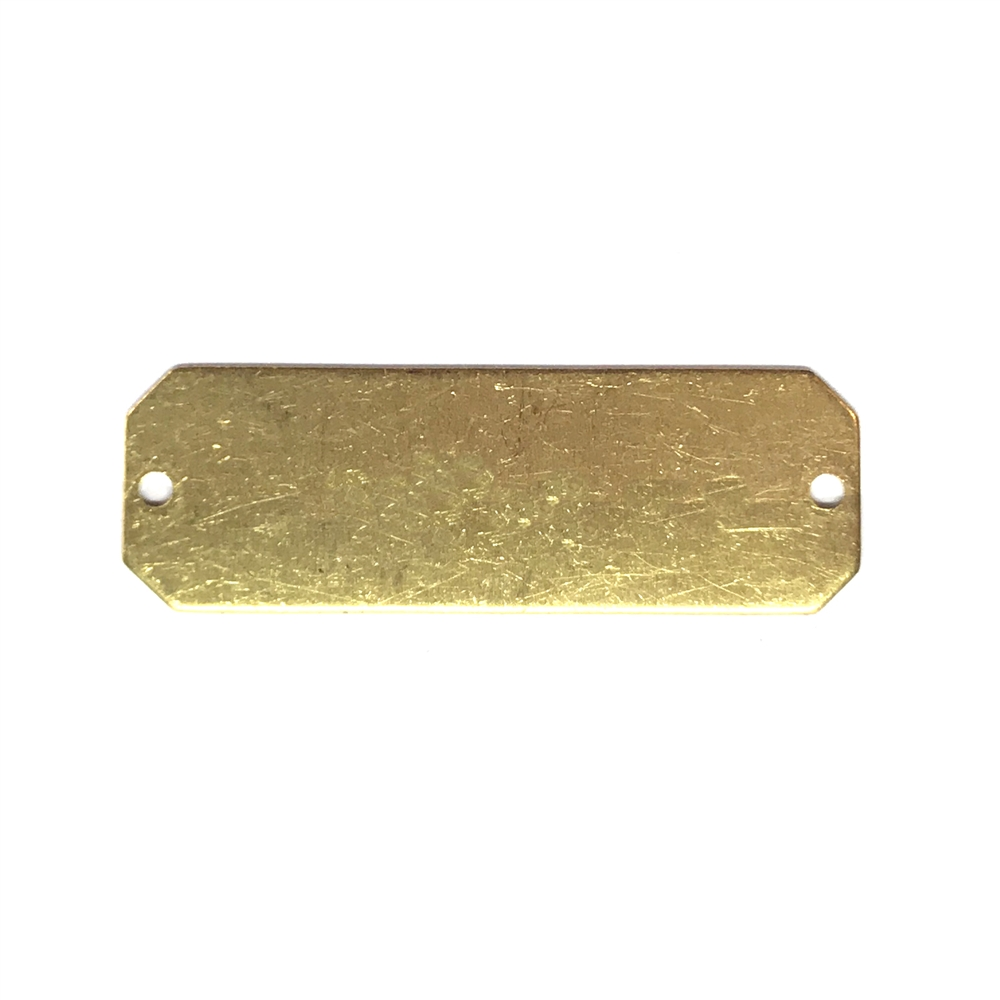 brass base, brass connector, jewelry supplies, 01566, drilled connector, drilled base, brass stampings, jewelry making supplies, bsueboutique, US made, nickel free, bracelet connector, rectangular connector