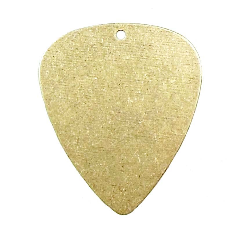 guitar pick, brass stampings, brass blank, brass ox, made in the USA, drilled guitar pick, guitar pick jewelry, making jewelry from a guitar pick, mixed media, jewelry making at home, B'sue Boutiques, jewelry findings, guitar pick pendant