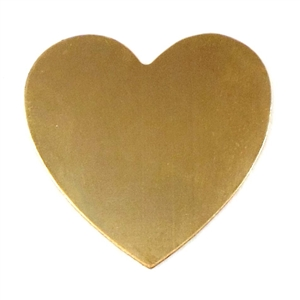 Heart Blank, Small Heart Base, Jewelry Supplies, 01788, base, blank, heart, heart base, raw brass, brass heart, brass blank