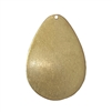 pear shaped blank, raw brass, blank, drilled base, brass, US made, drilled blank, blank, drilled, unplated brass, 38x25mm, jewelry making, vintage supplies, jewelry findings, jewelry supplies, charm blanks, charm, pear, embellishment, 02793