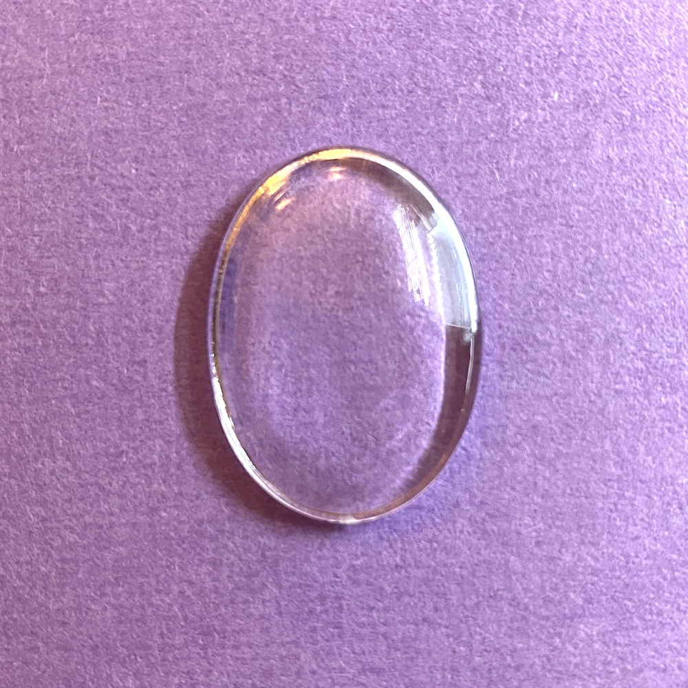 magnifying lens, art bubble, acrylic, 03233, hollow back, domed bubble, resin bubble, acrylic lens, magnifier, resin, B'sue Boutiques, jewelry supplies, 25x18