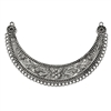 Crescent necklace base, antique silver, B'sue Boutiques, crescent, mixed media jewelry making, jewelry supplies,  jewelry making, 4.25 inches long, Indonesian style, base, 04079