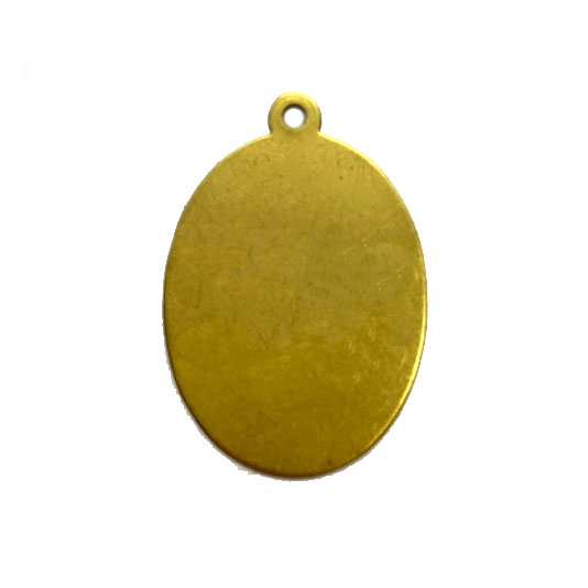 brass blank, pendant, jewelry making, 31 x 22mm, 04135, oval blank, pendant base, brass base, jewelry supplies, B'sue Boutiques, raw brass, unplated brass