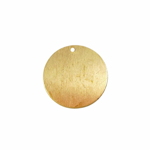 brass base, brass pendant, raw brass, 22mm