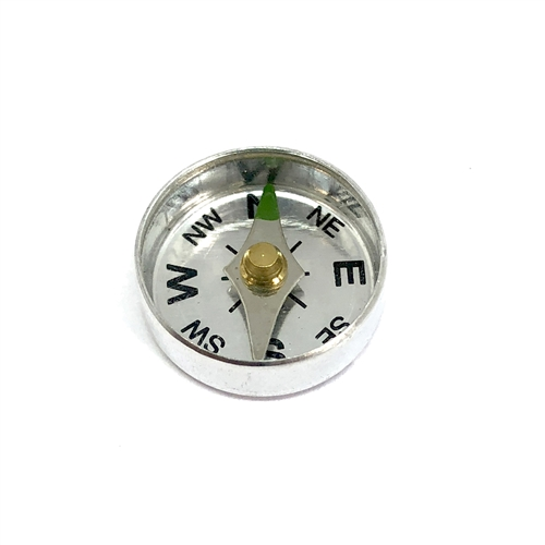 compass, jewelry making supplies, steampunk art, aluminum, movable compass, vintage jewelry supplies, 04152, US made, Bsue Boutiques