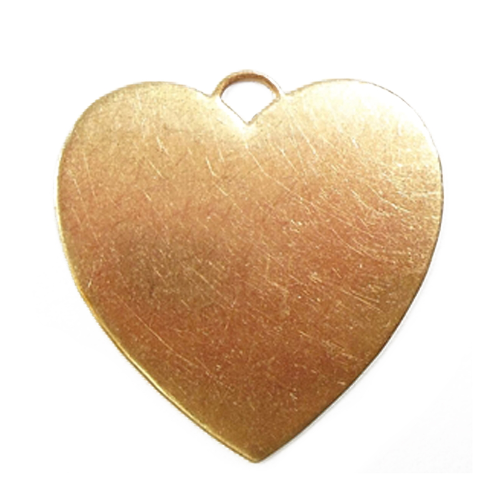 brass hearts, heart pendants, raw brass, 31 x 31mm