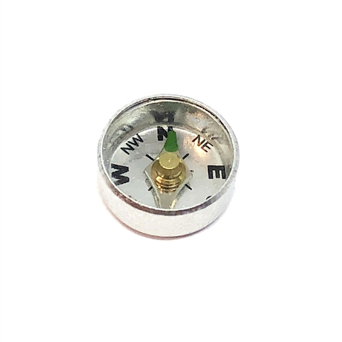 compass, jewelry making supplies, steampunk art, aluminum, movable compass, vintage jewelry supplies, 04866, 12mm compass, US made, B'sue Boutiques, silver compass, steampunk, jewelry supplies, jewelry making, nickel free,