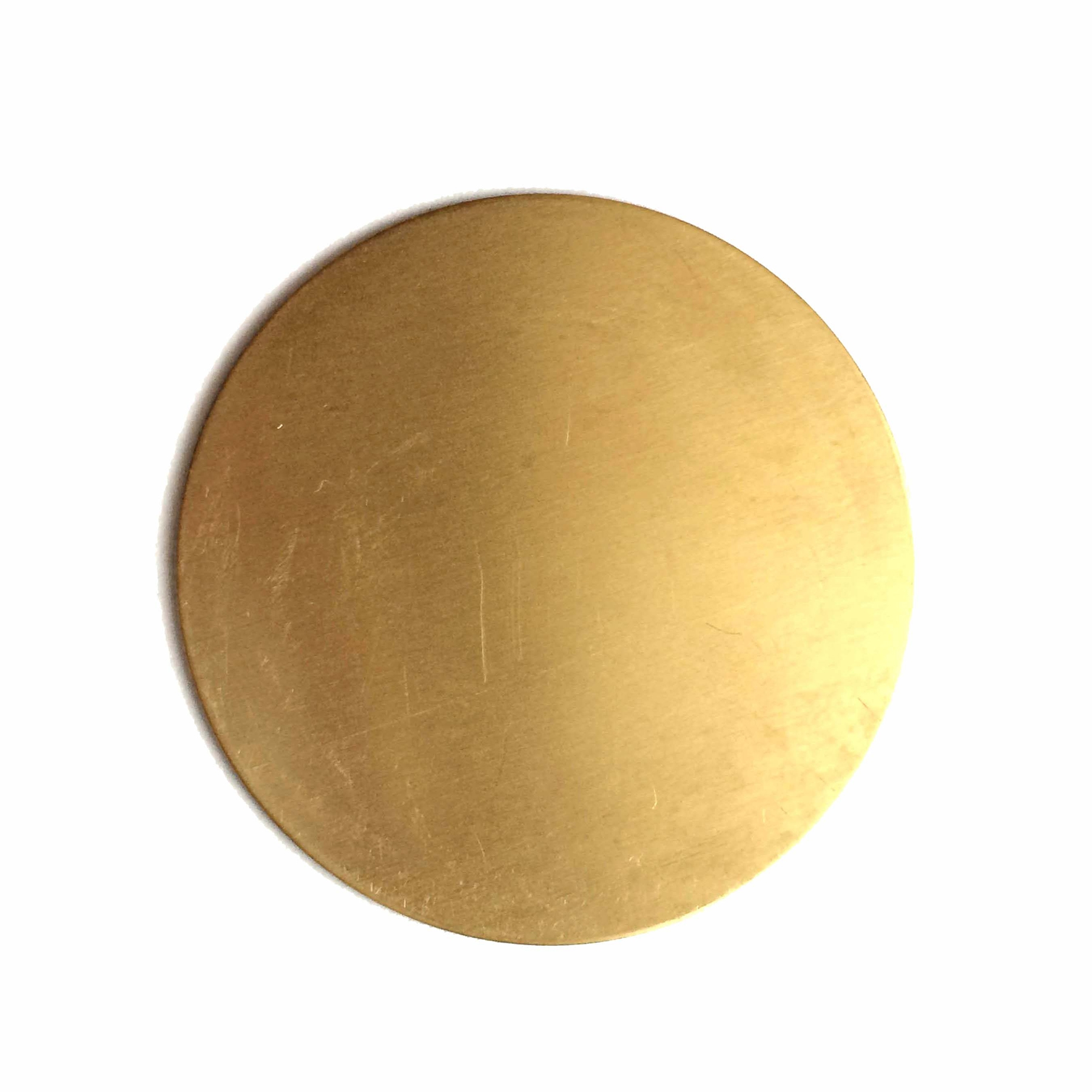 brass base, round base, raw brass, base, 38mm, round, circle, brass stamping, blank, unplated brass, bezel, us made, nickel free, b'sue boutiques, jewelry findings, vintage supplies, jewelry supplies, jewelry making, brass, stamping, 04886