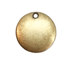 small drilled dapt blank, brass ox, blank, brass, US made, drilled blank, dapt blank, dapt, drilled, antique brass, 13mm, jewelry making, vintage supplies, jewelry findings, jewelry supplies, charm blanks, charm, round, embellishment, 05094