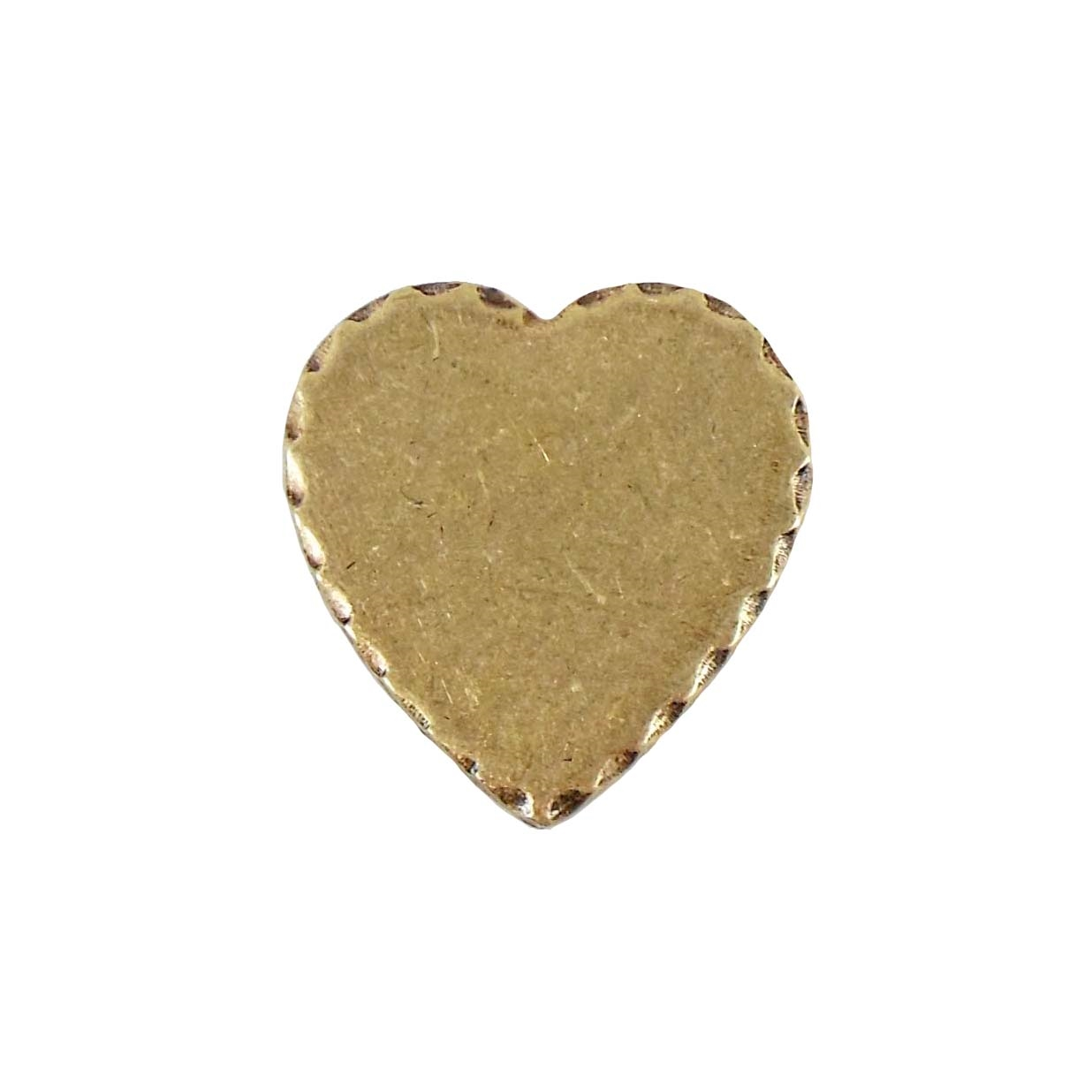 brass jewelry base, heart base, brass ox, 05098, drilled base, B'sue Boutiques, nickel free jewelry, US made jewelry, vintage jewellery supplies, jewelry making supplies, antique brass, brass blanks, heart jewelry blanks