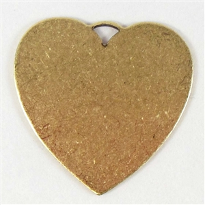 brass jewelry base, heart base, brass ox, 06387, drilled base, B'sue Boutiques, nickel free jewelry, US made jewelry, vintage jewellery supplies, jewelry making supplies, antique brass, brass blanks, heart jewelry blanks