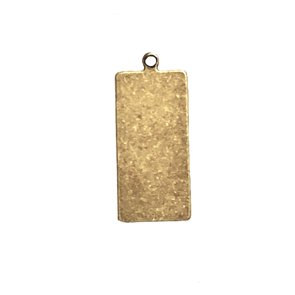 Brass blank, brass pendant base,  jewelry supplies, vintage jewelry supplies, brass ox, antique brass, US made, nickel free, bsueboutiques, 30x12mm, retangular brass base