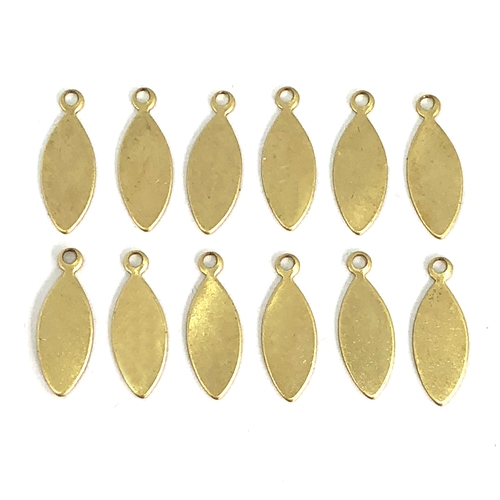Brass Blank, brass tags, 08366, blanks, tags, raw brass, unplated brass, charm, drop, ear drop, charms, drops, brass drop, Bsue Boutiques, jewelry supplies, findings, 16 x 6mm