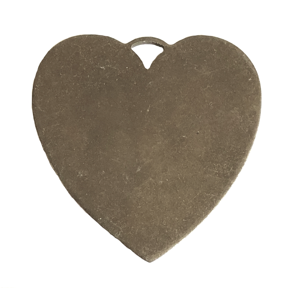 brass jewelry base, heart base, chocolate brass, 09956, drilled base, B'sue Boutiques, nickel free jewelry, US made jewelry, vintage jewellery supplies, jewelry making supplies, brass blanks, heart jewelry blanks
