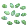 green swirl glass beads, glass beads, beads, made in Japan, green glass, glass, oval beads, 1960s, Japanese beads, glass oval beads, swirl beads, 11x7mm, beading supplies, jewelry making, jewelry supplies, B'sue Boutiques, jewelry findings, 01093