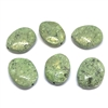 paint spattered beads, acrylic beads, beading supplies, green, jewelry making, jewelry supplies, vintage supplies, B'sue, round beads, 22x25mm, speckled beads, 01126, beads, olive green beads