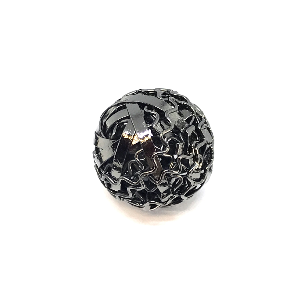 gunmetal beads, filigree beads, jewelry making, 01131, brass bead, abstract filigree beads, round beads, designer findings, designer beads, beading supplies, vintage jewelry supplies, 19mm, metal beads